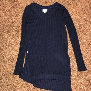 Navy Anthropologie Sweater top